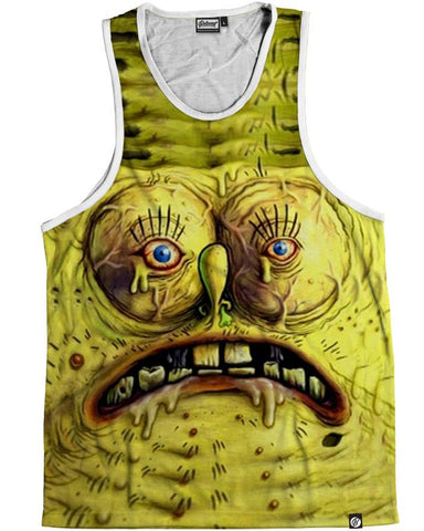 Ugliest Spongebob Men's Tank Top -  rave wear, rave outfits, edc, booty shorts