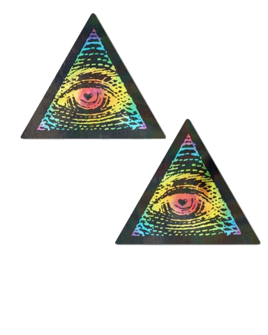 Rainbow All Seeing Eye Nipple Pasties