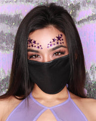 Plain Black Cotton Cloth Face Mask (ADULT and KIDS sizes)