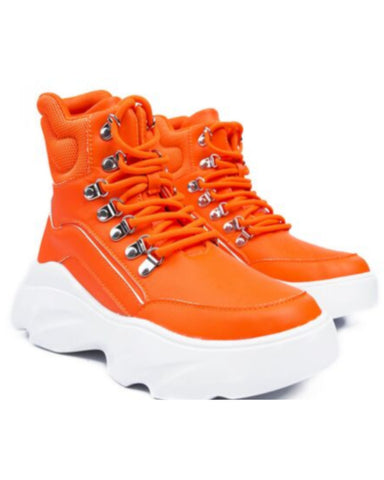 Orange Aston High-Top Sneakers