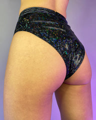 Shattered Sequin Higher Waist Rave Shorts