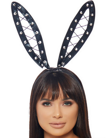 Bondage Bunny Ears Headband -  rave wear, rave outfits, edc, booty shorts