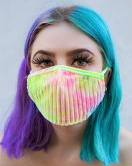 Candy Tie Dye Velvet Surgical Face Mask With Filter