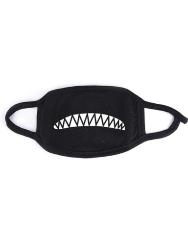 Chomp Chomp! Black Cloth Face Mask