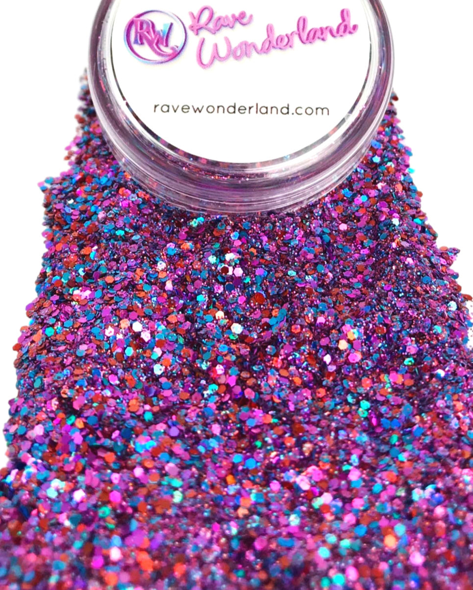 Purple Dreamer Iridescent Body and Face Festival Glitter (Large 15 Grams)