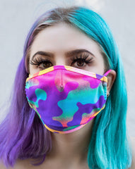 Electric Camo Surgical Face Mask With Filter