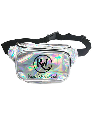 Promotional Holographic Silver Rave Fanny Pack