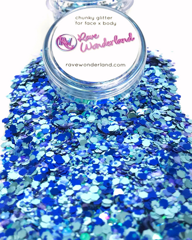 Ocean Siren Blue Turquoise Body and Face Festival Glitter (Large 15 Grams)