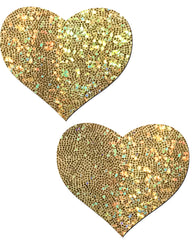 Heart Solid Glitter Nipple Pasties (Available in 6 Colors)