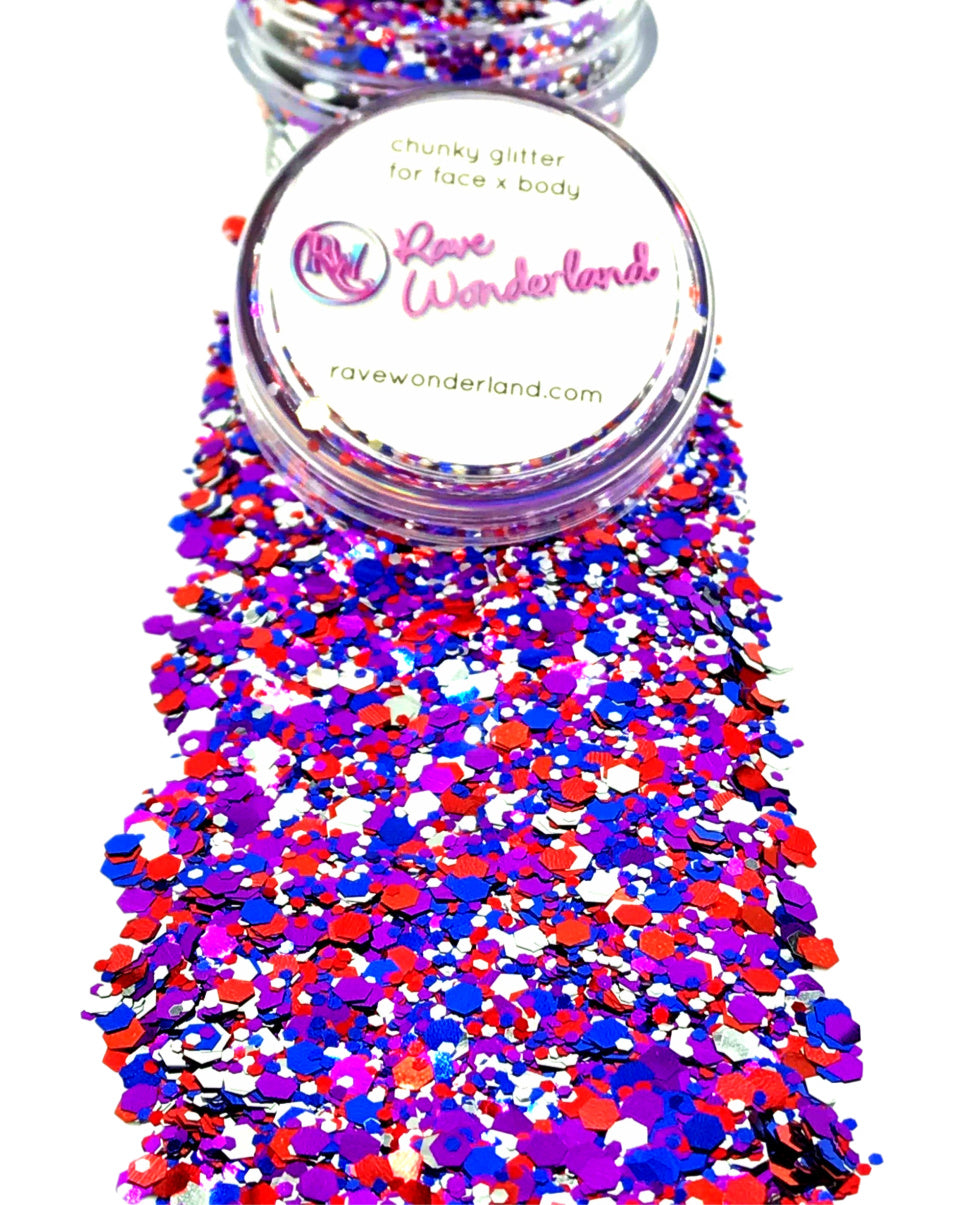 Jubilee Rainbow Body and Face Festival Glitter (Large 15 Grams)