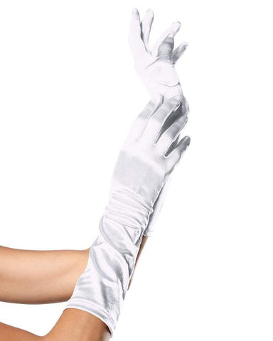 Satin Elbow-Length Gloves