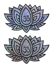 Glittering Lotus Ohm Nipple Pasties (Available In 2 Colors)