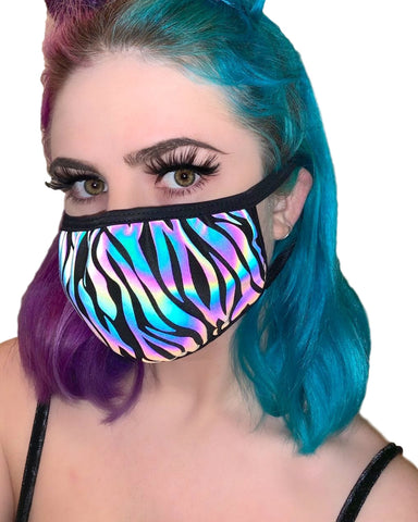 Reflective Zebra Surgical Face Mask