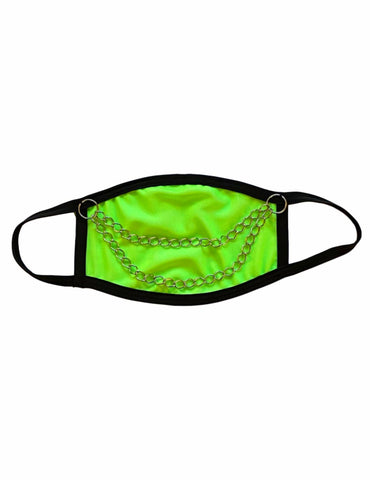 Neon Green Chain Me Up Face Mask