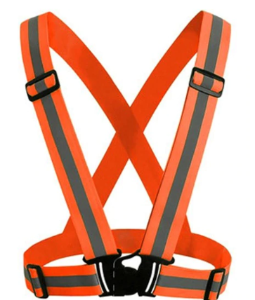 Danger Zone Neon Reflective Buckle Vest
