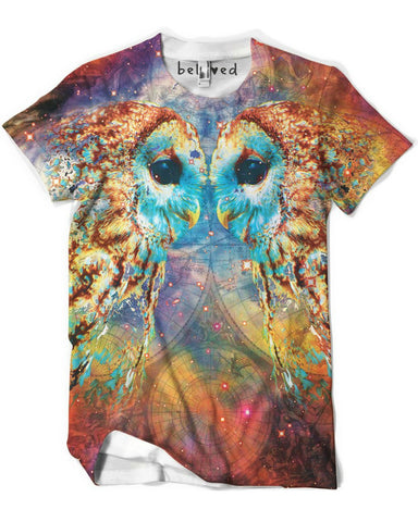 Owl Language Men's Tee -  rave wear, rave outfits, edc, booty shorts
