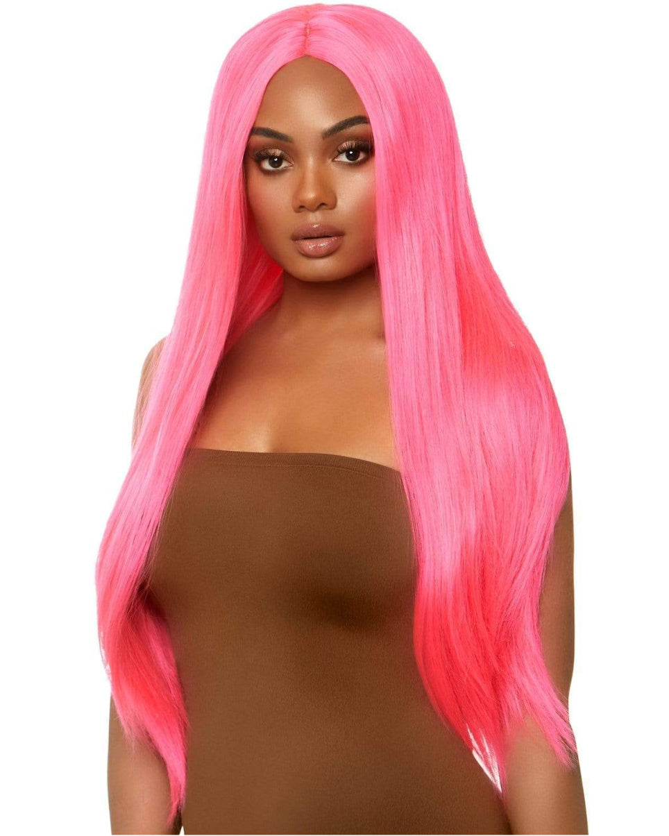 Neon Long Straight Wig