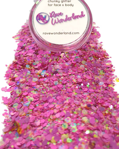 Pink Parade Iridescent Body and Face Festival Glitter (Large 15 Grams)