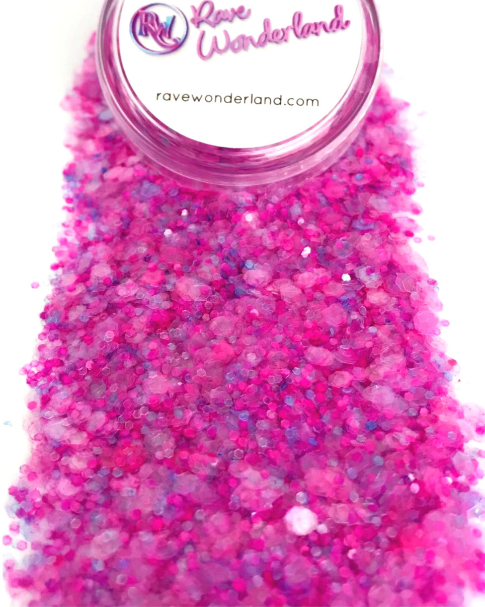Pretty in Pink Iridescent Translucent Body and Face Festival Glitter (Large 15 Grams)