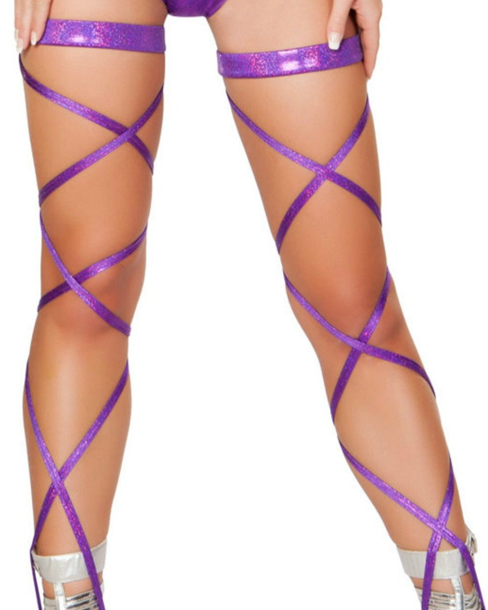Purple Shimmer Leg Wraps