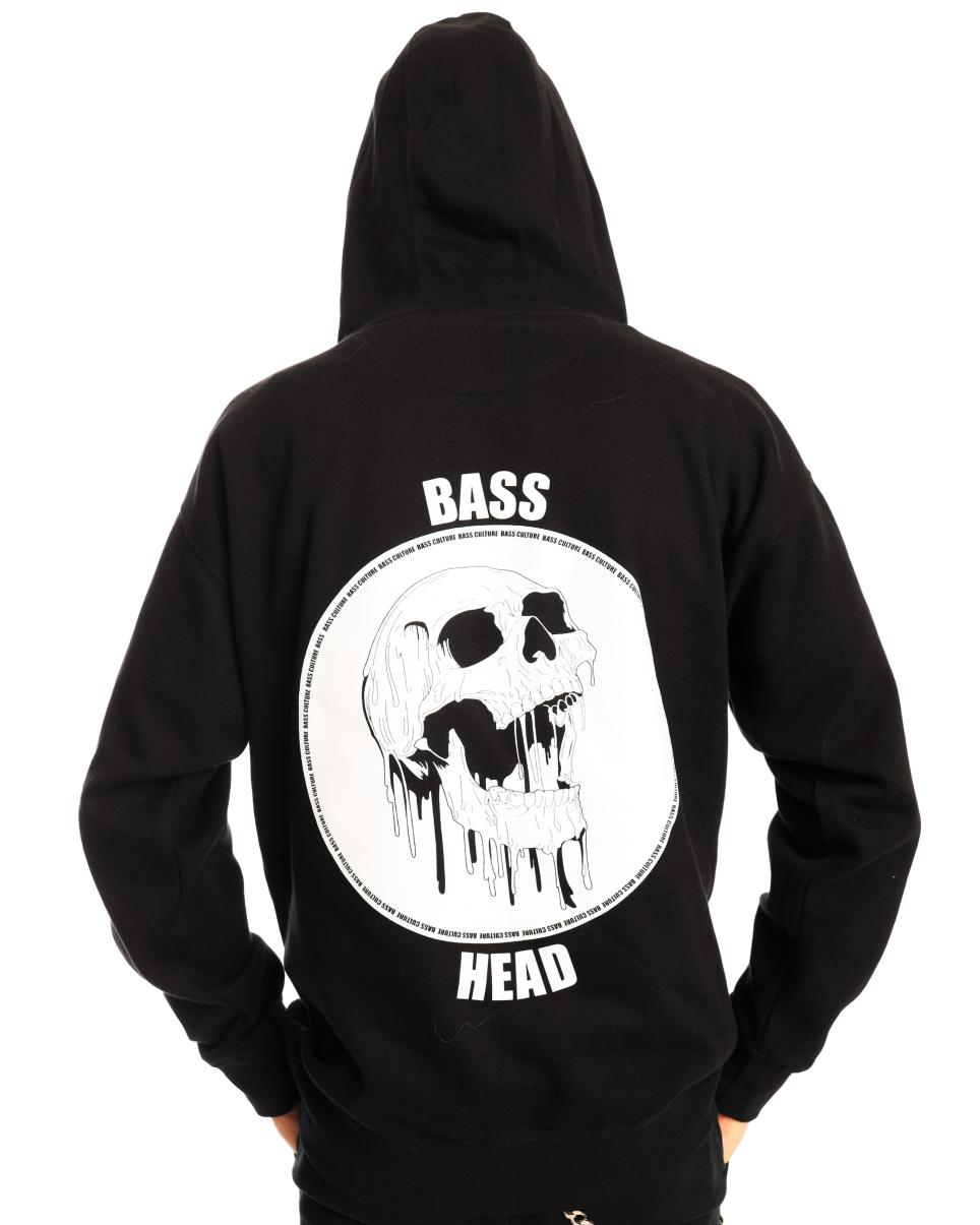 Bass Head Melting Skull Hoodie