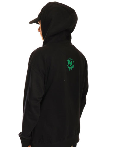 Green Pray For Techno Hoodie