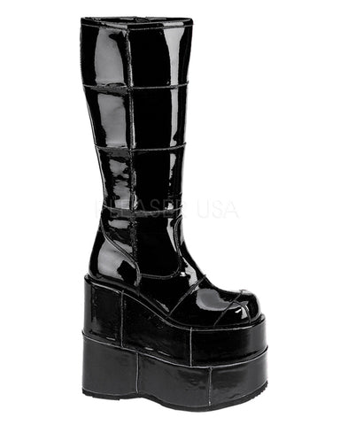 Wet Black Space Platform Boots -  rave wear, rave outfits, edc, booty shorts