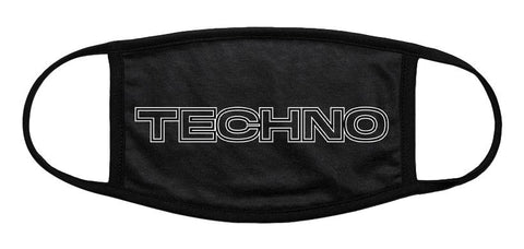 TECHNO Black Cotton Cloth Face Mask