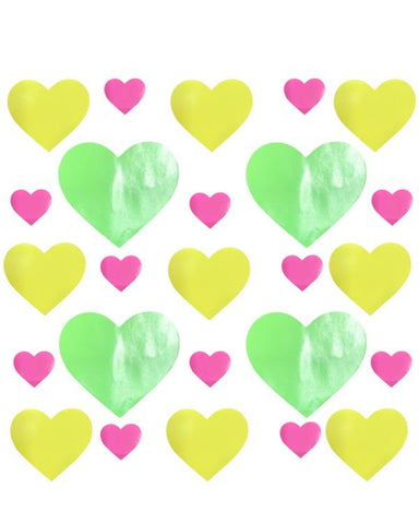 Fruitella Neon Blacklight Wet Vinyl I Heart U Sticker Top