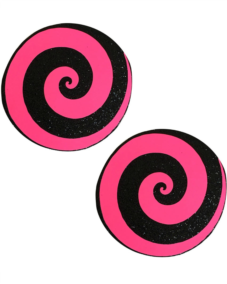 Care Bear Stare Blacklight Reactive Glitter Spiral Nipple Pasties