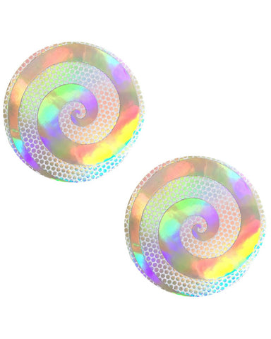 Care Bear Stare Holographic Spiral Nipple Pasties