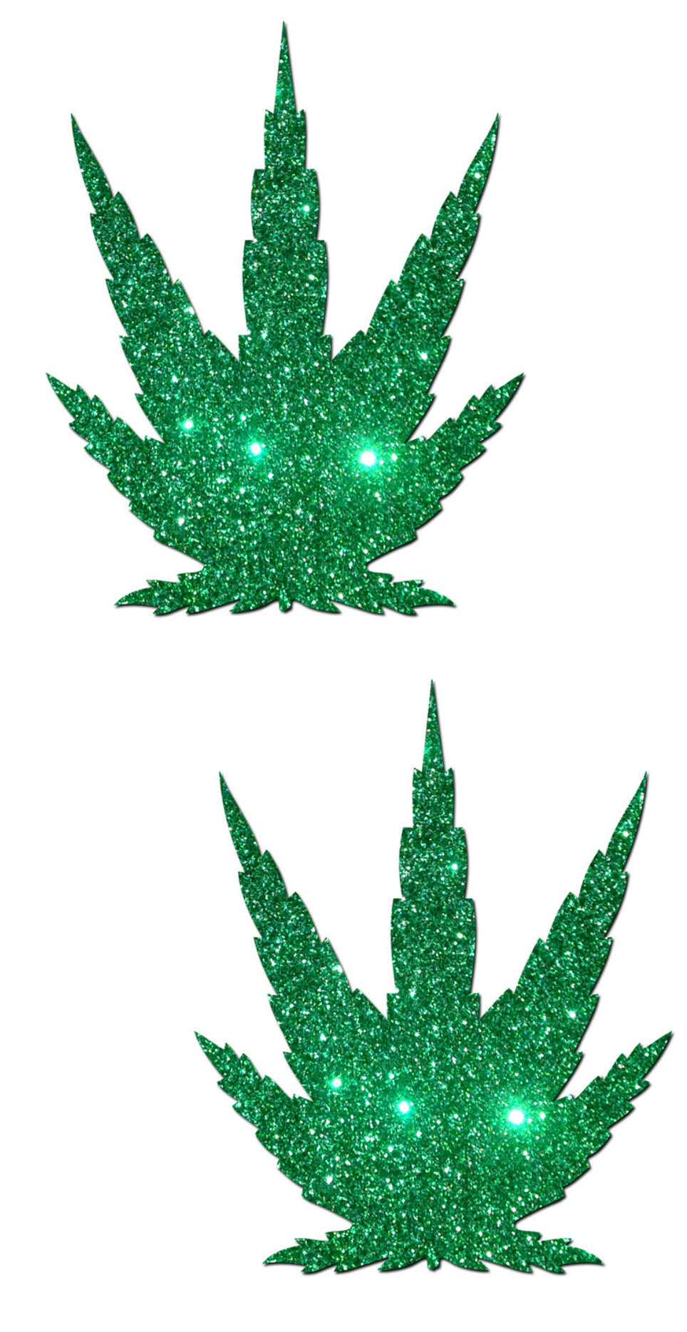 Kush Glitter Pot Pasties -  rave wear, rave outfits, edc, booty shorts
