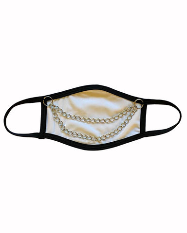 White Chain Me Up Face Mask