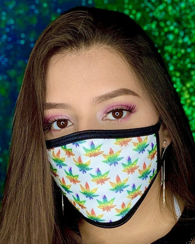 420 Rainbow Face Mask