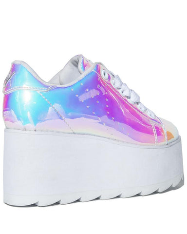 LALA Atlantis - Holographic Platform Shoes