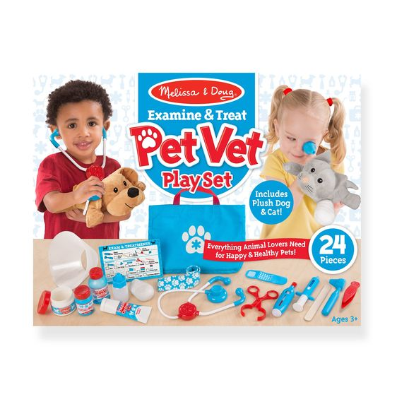 Melissa & Doug Examine & Treat Pet Vet Play set 129428
