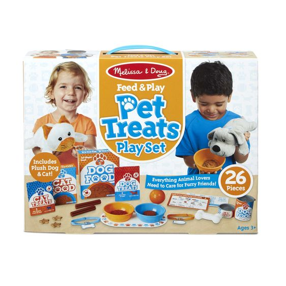 Melissa & Doug Feed & Play Pet Treats Play Set 129433