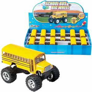 Big Wheel School Bus Pullback 105542