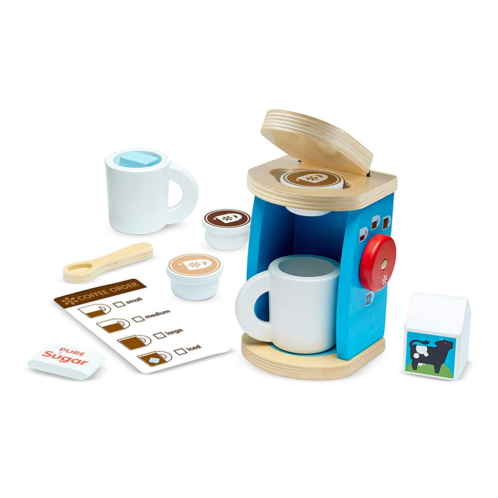 Melissa & Doug Brew and Serve Wooden Coffee Set 131849