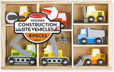 Melissa & Doug Wooden Construction Site Vehicles 131829