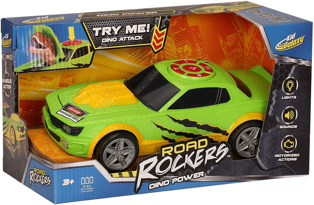 Kid Galaxy - Road Rockers Motorized Surprise Car with Sound, Dino