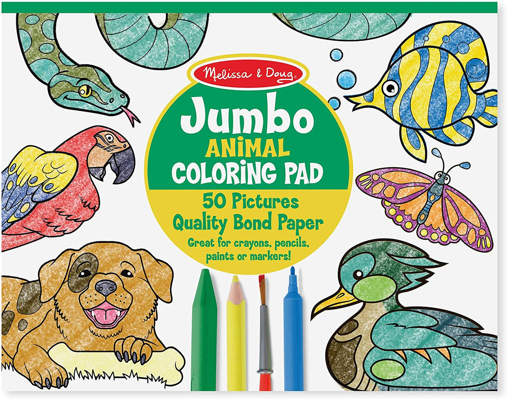 Melissa & Doug Jumbo Coloring Pad - Animals 104777