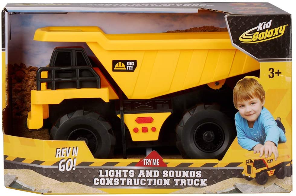"Kid Galaxy Friction Power 9"" Dump Truck w/ Lights & Sounds"