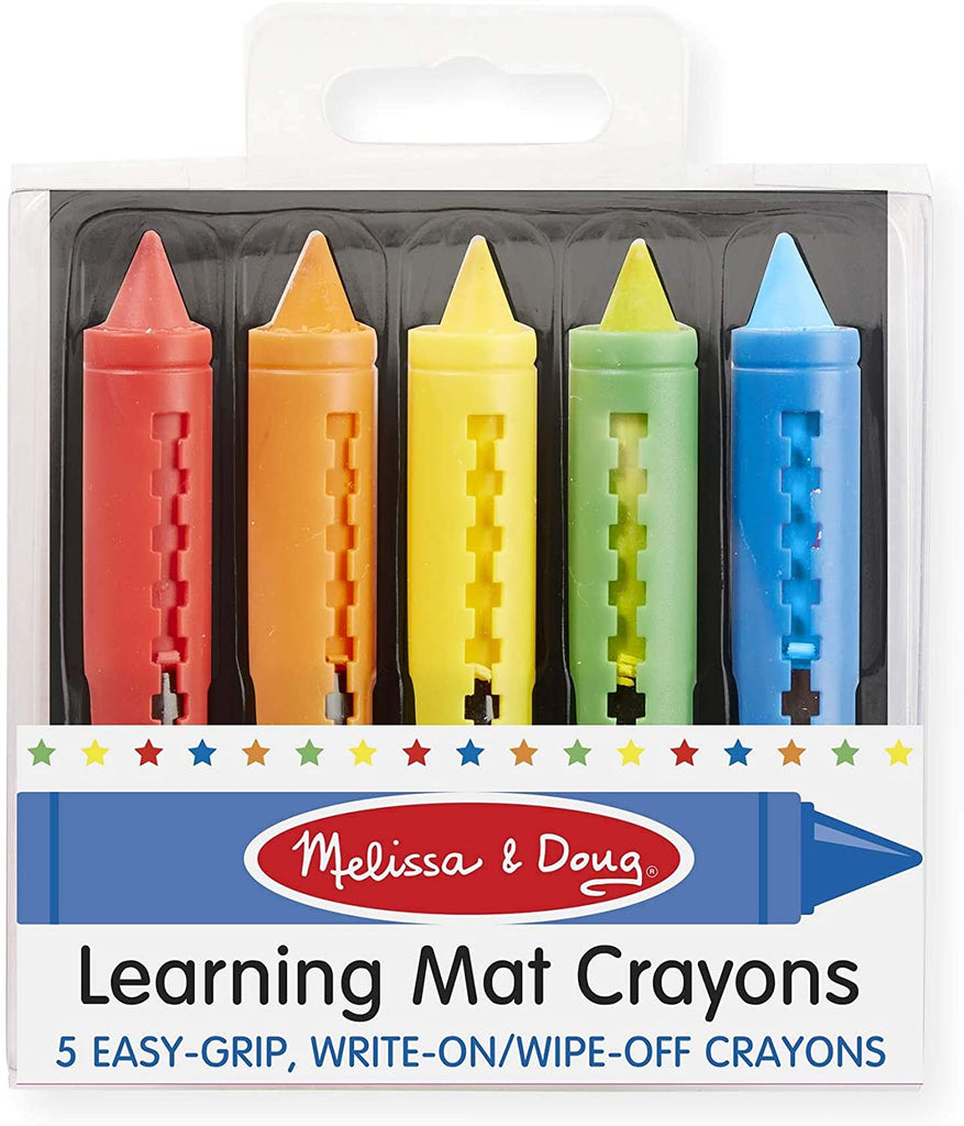 Melissa & Doug Learning Mat Crayons, 5 Colors