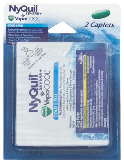 Nyquil Severe + Vapocool 2 Caplet Single Use Packs 11914