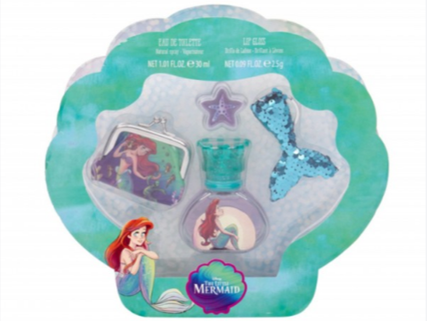 The Little Mermaid Perfume and Lip Gloss Set