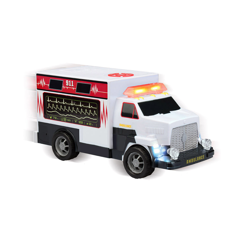 Kid Galaxy Road Rockers Motorized Ambulance Vehicle w/ Lights & Sounds 128022