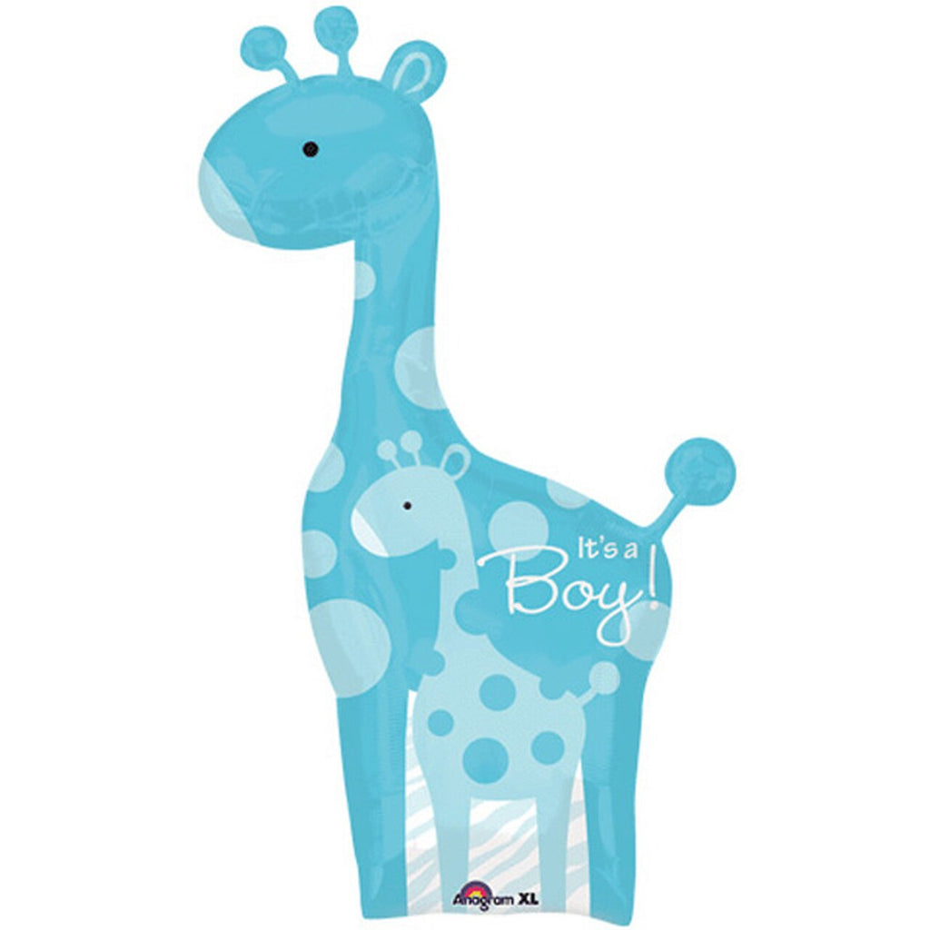 Supersizer Balloon - It's a Boy Giraffe Balloon