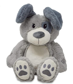 "Cuddle Barn Peek & Play 11"" Parker Gray Puppy - 133168"
