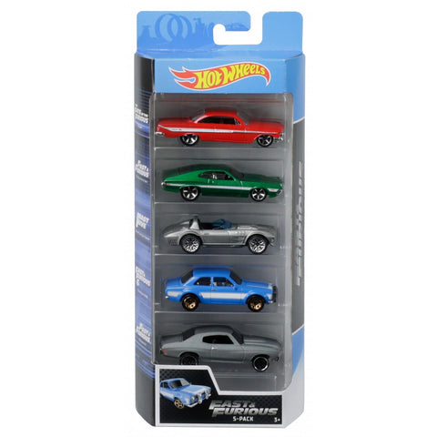Hot Wheels Fast & Furious 5pk Vehicles 129332